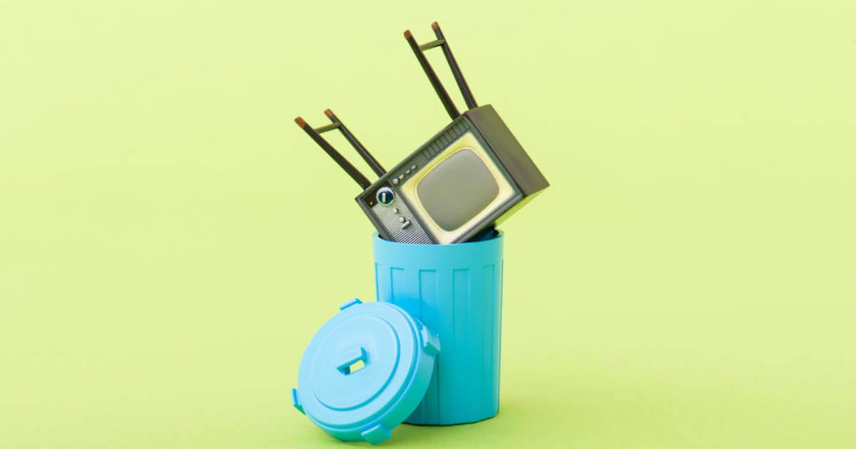「テレビ 捨てる」の画像検索結果