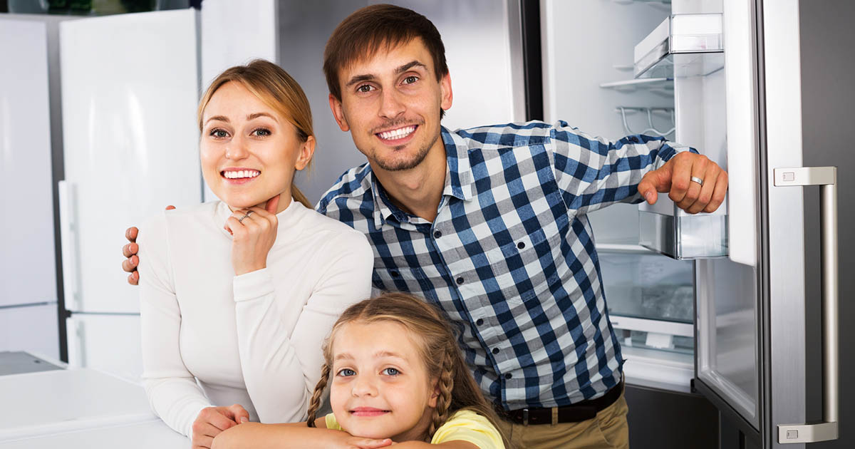 冷凍庫の大きい冷蔵庫